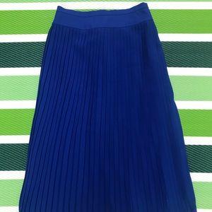 J. Crew Royal blue pleated skirt